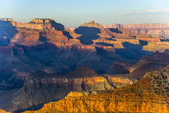 Grand Canyon at Mathers point. In sunset light Stock Image