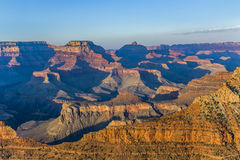 Grand Canyon at Mathers point. In sunset light Stock Photography