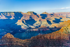 Grand Canyon at Mathers point in sunset. Light royalty free stock image