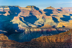 Grand Canyon at Mathers point in sunset. Light Stock Image