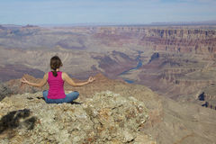 Grand Canyon Meditation Royalty Free Stock Image