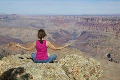 Grand Canyon Meditation Royalty Free Stock Photography