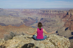 Grand Canyon Meditation Royalty Free Stock Photography