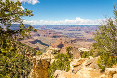 Grand Canyon -Mening van Grandview-punt stock fotografie