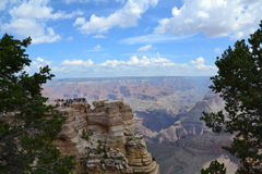 Grand Canyon. The Grand Canyon is 277 miles long, up to 18 miles wide. This is very amazing scenery. Me must watching a long time. This canyon have a power for Royalty Free Stock Photo
