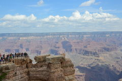 Grand Canyon. The Grand Canyon is 277 miles long, up to 18 miles wide. This is very amazing scenery. Me must watching a long time. This canyon have a power for Stock Images