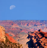 Grand Canyon Moon Royalty Free Stock Images