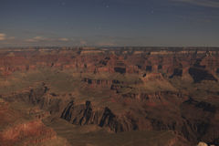 Grand Canyon in moonlight Royalty Free Stock Photo