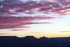 Grand Canyon Morning Sky. The dawn sky at the Grand Canyon in Arizona Royalty Free Stock Photos