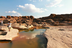 Grand canyon name is sampanbok in ubon ratchathani thailand Royalty Free Stock Images