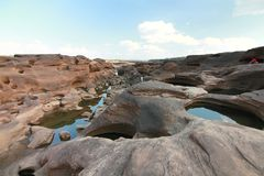 Grand canyon name is sampanbok in ubon ratchathani thailand Royalty Free Stock Image