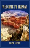 Travel Poster, Grand Canyon, Arizona, royalty free stock image