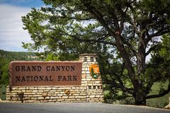 Grand Canyon National Park Sign Royalty Free Stock Images