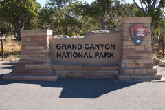 Grand Canyon national park sign, Arizona Royalty Free Stock Photography