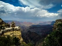 South Rim of the Grand Canyon National Park stock photo