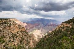 Grand Canyon National Park during a summer rainy day, Arizona, USA Royalty Free Stock Images