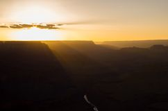 Grand Canyon National Park - Sunset. Beautiful sunset at the Grand Canyon Royalty Free Stock Image