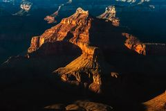 Grand Canyon National Park at sunset in summer stock images