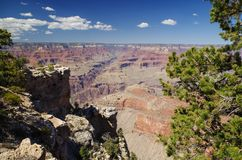Grand Canyon National Park. View at the Grand Canyon National Park Stock Photos