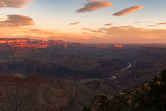 Grand Canyon National Park. View of the park during sunrise royalty free stock image