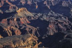 Grand Canyon no por do sol foto de stock