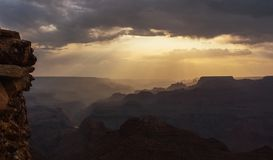 Grand Canyon no por do sol Foto de Stock