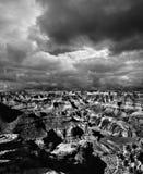 Grand Canyon noir et blanc Arizona Images stock