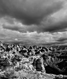 Grand Canyon noir et blanc Arizona Image stock