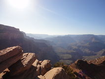 Grand Canyon nordliga Sun arkivbild