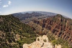 Grand Canyon norr kantsikt arkivbilder