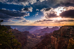Grand Canyon North Rim Cape Royal Overlook at Sunset Stock Images