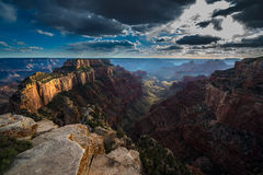 Grand Canyon North Rim Cape Royal Overlook at Sunset Wotans Thro Stock Images