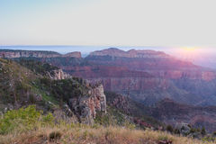 Grand Canyon North Rim Sunrise Scenic Stock Photography