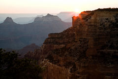 Grand Canyon North Rim Sunset Royalty Free Stock Image