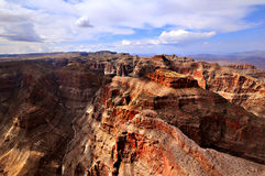 GRAND CANYON, O ARIZONA, AZ, EUA: Uma vista panorâmica do parque nacional de Grand Canyon Imagem de Stock Royalty Free