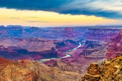 Grand Canyon, o Arizona, EUA da borda sul fotos de stock royalty free