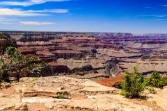 Grand Canyon occidentale dall'orlo del sud Fotografie Stock Libere da Diritti
