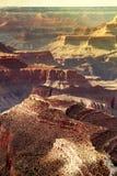 Grand Canyon op zonsondergang Stock Afbeelding