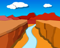 Grand Canyon in origami style, vector Stock Photo
