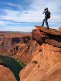 Grand Canyon overlook Royalty Free Stock Photo