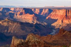 Grand Canyon Overview. In fall arizona Stock Photos