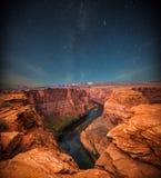 Grand Canyon på natten royaltyfri foto