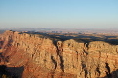 Grand Canyon på solnedgången Fotografering för Bildbyråer