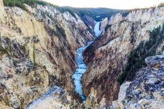 Grand Canyon på yellowstone Royaltyfria Bilder