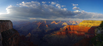 Grand Canyon Panorama. Panorama of the Grand Canyon from the South Rim stock photo