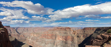 Grand canyon panorama in sunny day Royalty Free Stock Photos