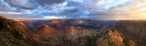 The Grand Canyon Panorama Sunrise From the South Rim Stock Photos