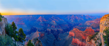 Grand canyon panorama. Sunset at Grand Canyon National park. Arizona, USA stock photo