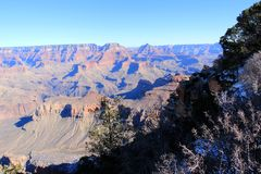 Grand Canyon Panorama in a sunset view Royalty Free Stock Photography
