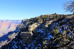 Grand Canyon Panorama in a sunset view Stock Images
